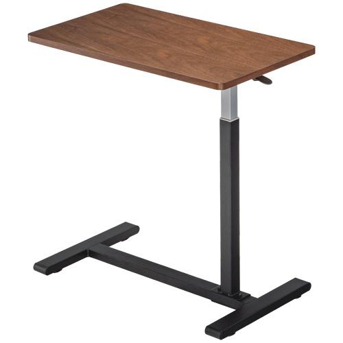 新作続 立ったり座ったり 自在に作業ができるレバー式昇降テーブル YAMAZEN レバー式昇降テーブル ウォルナット ブラック 送料無料 WL 1台 倉庫 BK KUT-7040