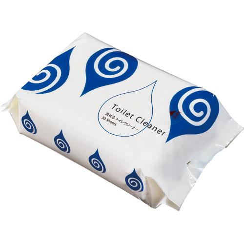 手軽に使えるシートクリーナー TANOSEE 在庫処分 ギフ_包装 流せるトイレクリーナー 1パック 30枚 ミントの香り