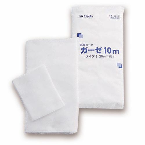 傷や患部の保護に 用途に合わせてカットして使えます オオサキメディカル 上等 オオサキガーゼ 30cm×10m 1枚 52301 高い素材