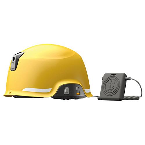 【お取寄せ品】 GigaTeraJapan ヘルメット型防災用無線機(防水・防塵) イエロー SAGA-D-B 1台【送料無料】