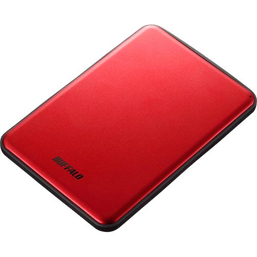 バッファロー MiniStation USB3.1(Gen1)対応 アルミ素材&薄型ポータブルHDD 1TB レッド HD-PUS1.0U3-RDD 1台 【送料無料】
