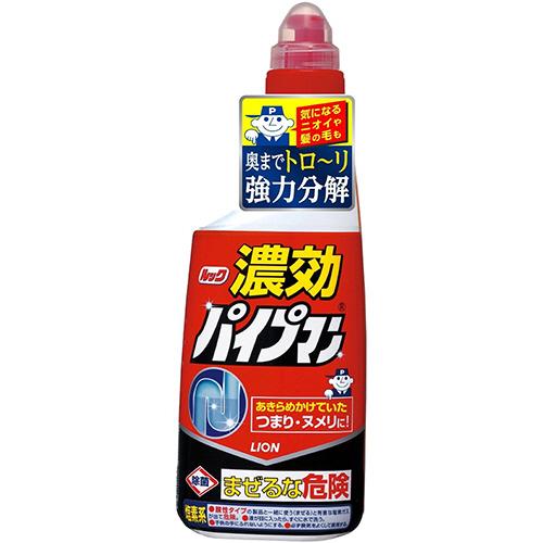 高濃度のジェルだから少量で効く 強力コンパクトタイプの液体パイプクリーナー ライオン 新作 ルック 濃効パイプマン 1本 450ml !超美品再入荷品質至上!