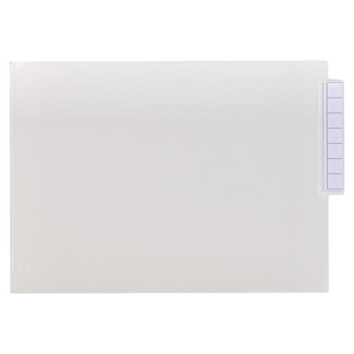 リヒトラブ カルテフォルダー シングルポケット A4ヨコ 見出し紙付 乳白 HK7708-ミ 1箱(200枚) 【送料無料】