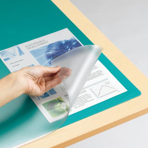 在庫一掃 リサイクル素材使用のデスクマットがこの価格 TANOSEE デスクマット 光学式マウス対応 1枚 下敷付 600×450mm 大決算セール ダブル