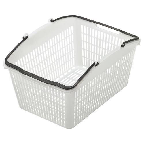 店舗の必需品 最安値挑戦 買い物かご スーパーメイト ショッピングバスケット 即出荷 16L PB-16NG グレー シロ 1個
