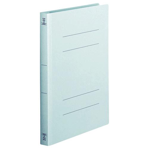 250枚収容できる厚とじタイプ TANOSEE フラットファイル お得セット 厚とじW お中元 A4タテ 青 1セット 250枚収容 10冊 背幅28mm
