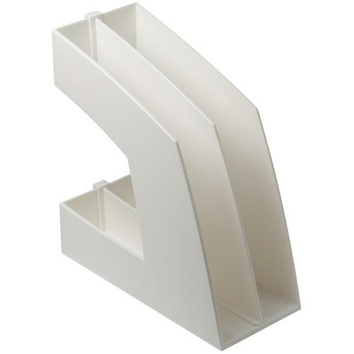 ソニック ファイルボックス 仕切板付 A4タテ 背幅107mm ホワイト FB-708-W 1個