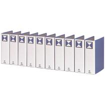 TANOSEE 両開きパイプ式ファイル A4タテ 800枚収容 80mmとじ 背幅96mm 青 1セット(30冊) 【送料無料】