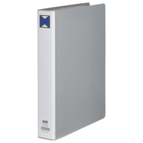TANOSEE パイプ式ファイル 片開き A4タテ 300枚収容 30mmとじ 背幅46mm グレー 1セット(30冊) 【送料無料】