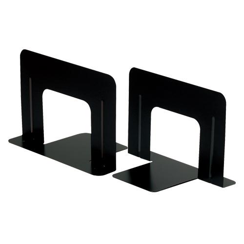 仕事も机上もスムーズに T型ブックエンド TANOSEE ブックエンド T型 5%OFF ワイド 送料無料 ブラック 10枚:2枚×5組 買収 1セット