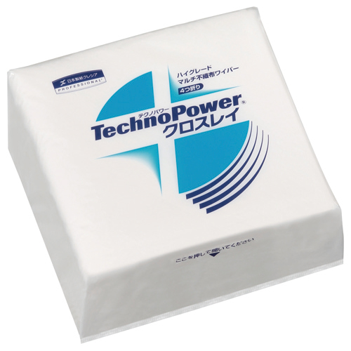 日本製紙クレシア テクノパワー クロスレイ 4つ折り 63260 1セット(600枚:50枚×12パック) 【送料無料】