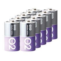 TANOSEE アルカリ乾電池 プレミアム 単2形 1セット(100本:10本×10箱) 【送料無料】