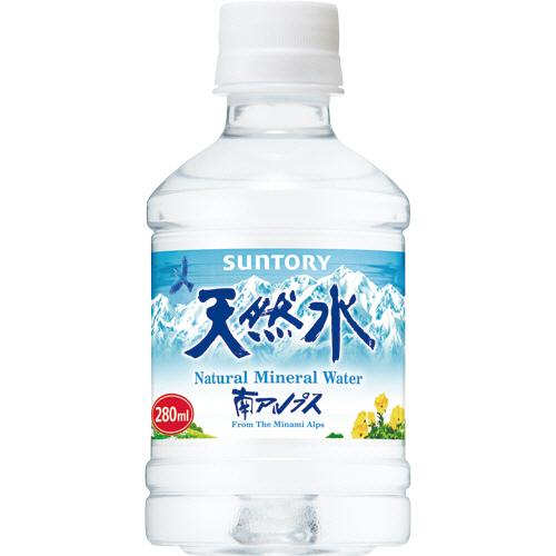 キレ良くさわやかな清涼感ある味わい 新作送料無料 サントリー 天然水 280ml 24本 ペットボトル 1ケース 新品未使用正規品