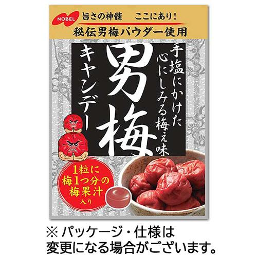 1粒に梅1つ分の梅果汁を配合 ノーベル 男梅キャンディー おトク セットアップ 80g 6袋 1セット 袋