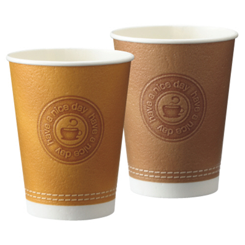 TANOSEE 断熱レリーフカップ Emboss Stitch 273ml(9オンス) 1セット(1000個:50個×20パック) 【送料無料】
