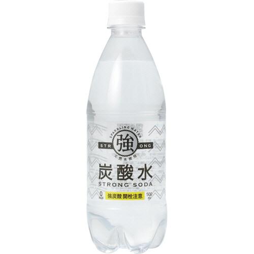 そのまま飲んでも タイムセール 割ってもおいしい強炭酸水 友桝飲料 新商品!新型 強炭酸水 1ケース 500ml 24本 ペットボトル