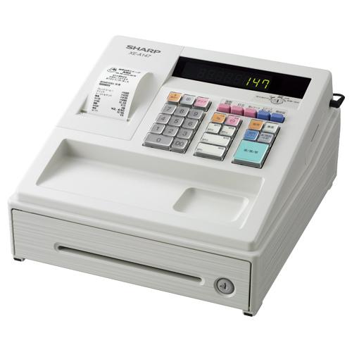 シャープ 電子レジスタ ホワイト XE-A147-W 1台 【送料無料】