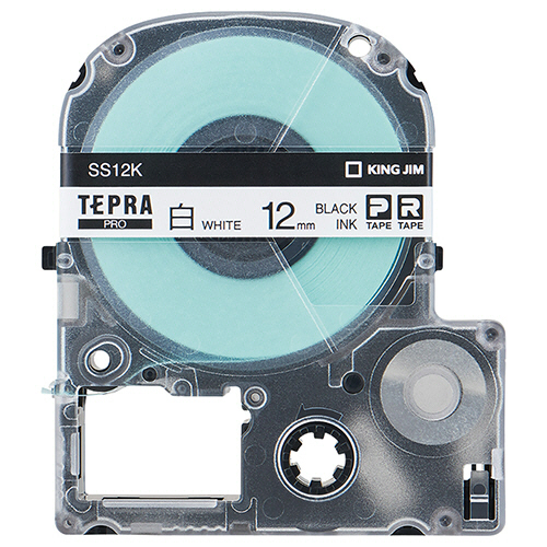 キングジム テプラ PRO テープカートリッジ 12mm 白/黒文字 エコパック SS12K-10PN 1セット(30個:10個×3パック) 【送料無料】