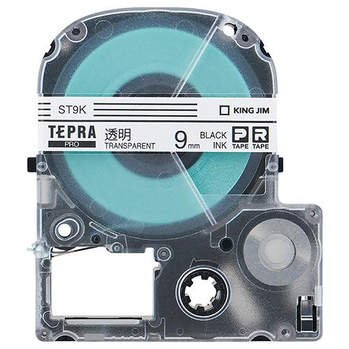 キングジム テプラ PRO テープカートリッジ 9mm 透明/黒文字 エコパック ST9K-10PN 1セット(30個:10個×3パック) 【送料無料】