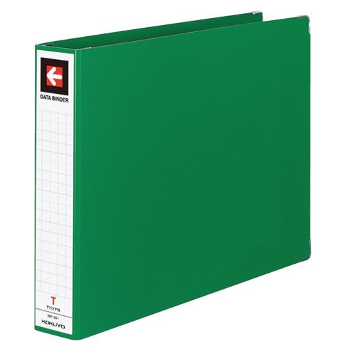 コクヨ データバインダーT(バースト用・ワイドタイプ) T11×Y15 22穴 450枚収容 緑 EBT-551G 1セット(20冊) 【送料無料】