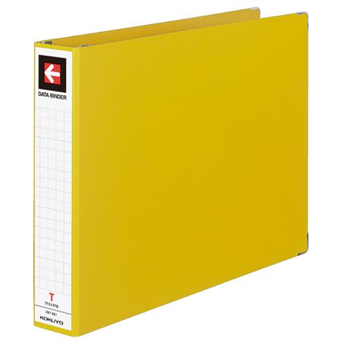 コクヨ データバインダーT(バースト用・ワイドタイプ) T11×Y15 22穴 450枚収容 黄 EBT-551Y 1セット(10冊) 【送料無料】