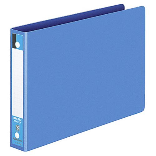 【お取寄せ品】 コクヨ リングファイル 色厚板紙表紙 A5ヨコ 2穴 170枚収容 背幅30mm 青 フ-427B 1セット(40冊) 【送料無料】