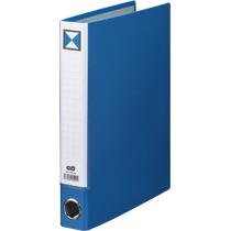 TANOSEE 片開きパイプ式ファイルKJ(指かけ穴付) A4タテ 300枚収容 30mmとじ 背幅46mm 青 1セット(30冊) 【送料無料】