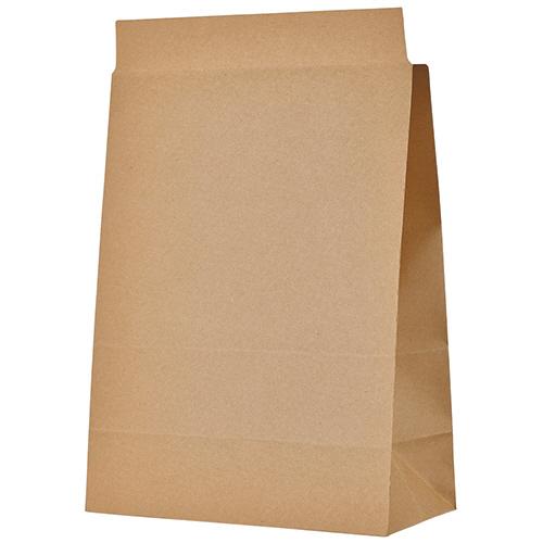 TANOSEE 宅配袋 マチ広 大 茶 封かんテープ付 1セット(400枚:100枚×4パック)【送料無料】
