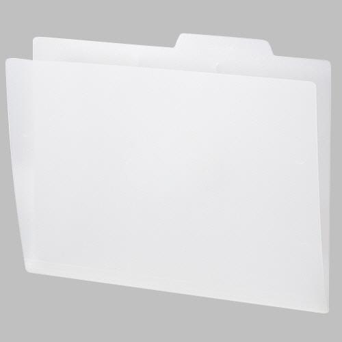 長く使える丈夫なPP製個別フォルダー TANOSEE PP製個別フォルダー A4 在庫処分 1セット 送料無料 ホワイト 50冊:5冊×10パック ランキング総合1位
