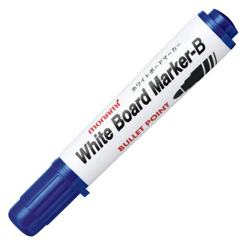 使い切りタイプ 人気ブランド多数対象 入手困難 すぐ乾き かすれない 書き味なめらかなボードマーカー モナミ ホワイトボードマーカーB 12本 青 1セット 丸芯 10502