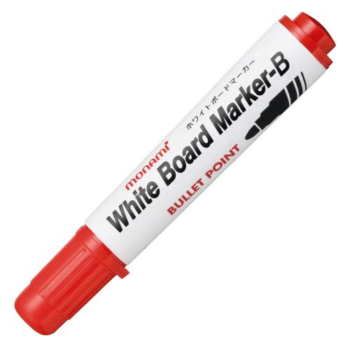 使い切りタイプ すぐ乾き かすれない 書き味なめらかなボードマーカー モナミ ホワイトボードマーカーB 丸芯 12本 1セット 赤 公式ストア 10503 大注目
