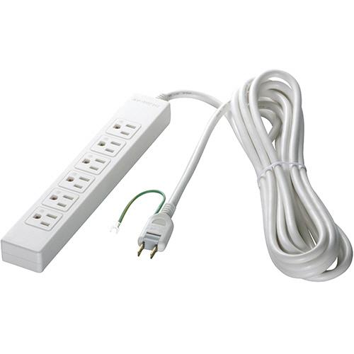 バッファロー 3ピン式電源タップ 6個口タイプ 2m ホワイト BSTAPST3620WH 1セット(10個) 【送料無料】