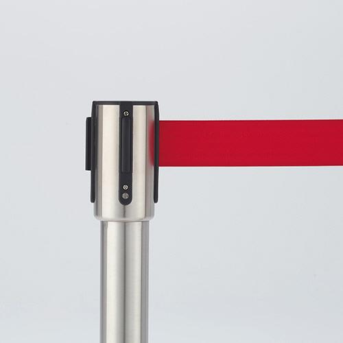 ベルトパーテーションスタンドSE シルバータイプ ベルト:赤 1セット(4台) 【送料無料】