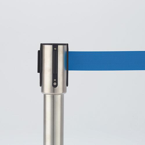 ベルトパーテーションスタンドSE シルバータイプ ベルト:青 1セット(4台) 【送料無料】