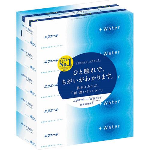 クセになるやさしさ 毎日使える新 潤いティシュー 大王製紙 エリエール Water 1セット 使い勝手の良い 50箱:5箱×10パック 箱 送料無料 180組 いつでも送料無料