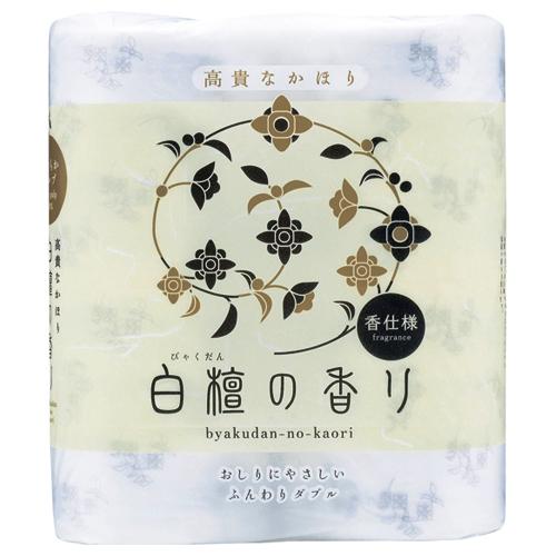 高貴な香りで華やかさとくつろぎの時間を演出 お買い得 四国特紙 トイレットペーパー 白檀の香り マーケティング ダブル 48ロール:4ロール×12パック 送料無料 芯あり 1セット 30m