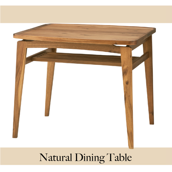 Natural Dining table W80cm×D80cm×H70cm ダイニングテーブル ナチュラル リビングテーブル カントリー 北欧 テーブル 一人暮らし [送料無料][AT-0033]pachakagu