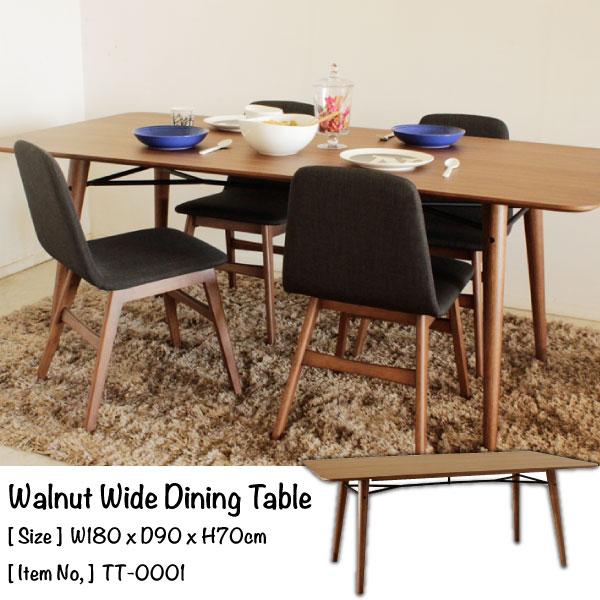 全ての Walnut Wide Dining Wide Table 幅180×奥行き90×高さ70cm ウォールナット突板MDF ワイド Table ダイニングテーブル センターテーブル Walnut スチール ウォールナット[送料無料][TT-0001]pachakagu, 人気ブラドン:d46ca203 --- supercanaltv.zonalivresh.dominiotemporario.com