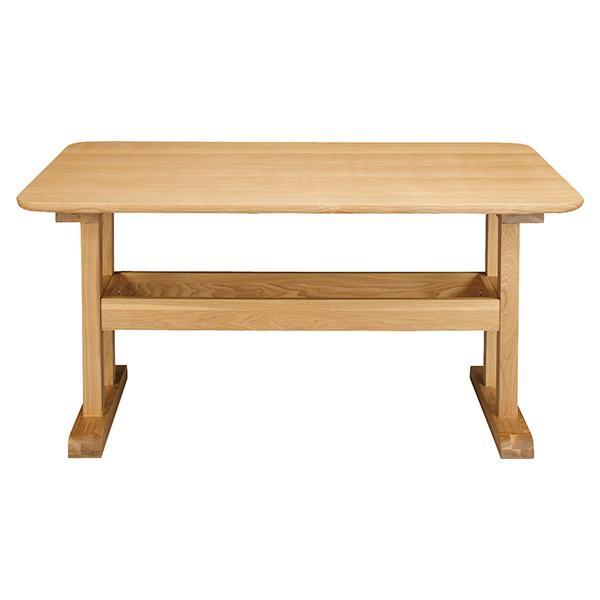 天然木 ダイニングテーブル (W130cm × D75cm × H64cm) ダイニング テーブル アッシュ 木製 シンプル カントリー[送料無料][AT-0004]pachakagu