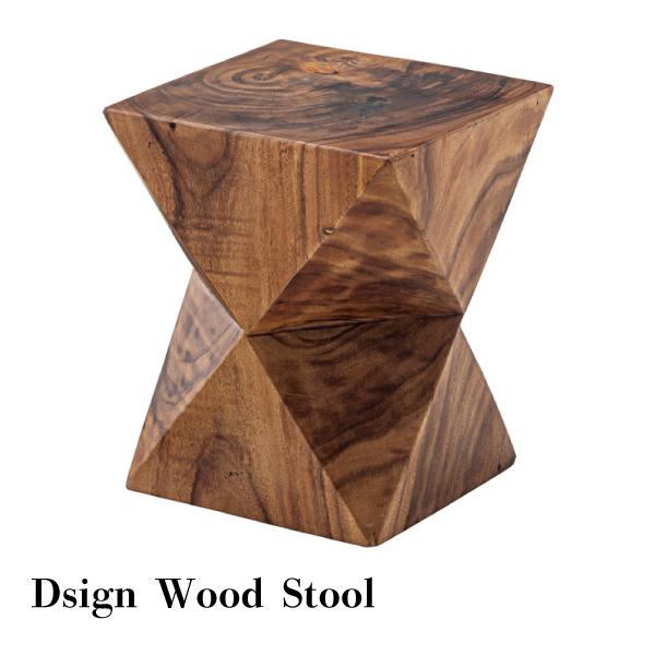 【スーパーSALE 10%OFF!!】Design Wood Stool 幅33cm×奥行き33cm×高さ42cm スツール 木製 テーブル おしゃれ カフェ デザイン シンプル ローテーブル 北欧インテリア カジュアル 家具[送料無料][AT-0035]pachakagu