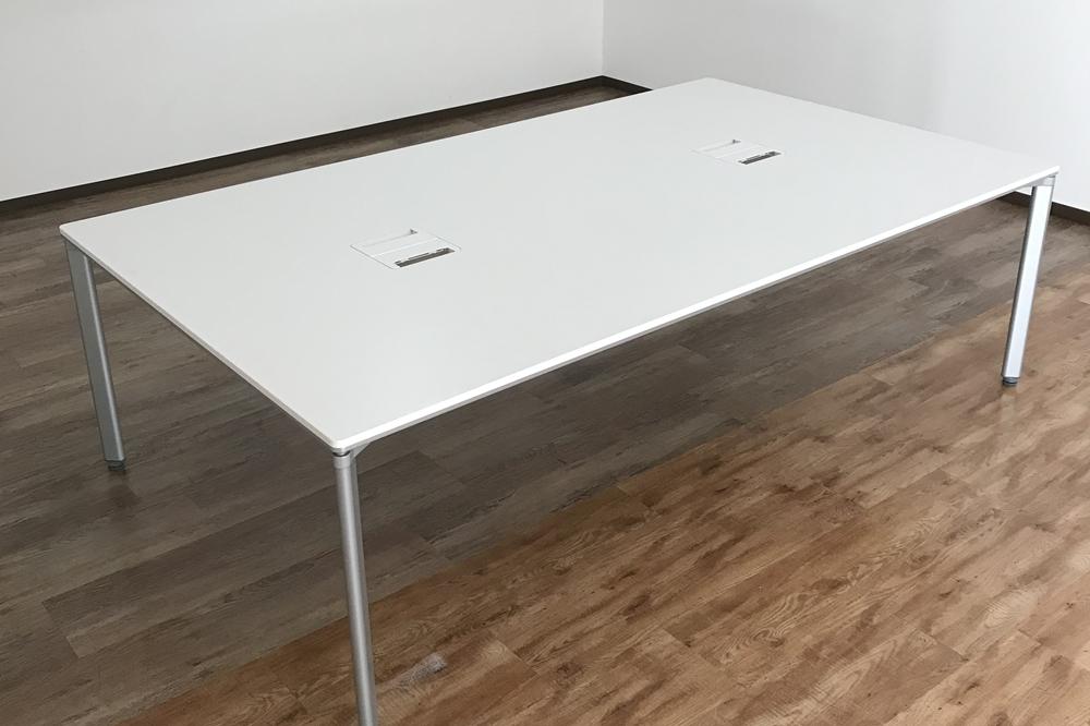 Meeting table conference table meeting table desk KOKUYO Kokuyo used free  address white 2,400mm *1,400mm used office furniture