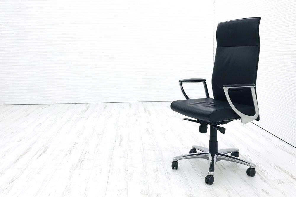 オカムラ エグゼクティブチェア CEシリーズ CE66SX 中古チェア 役員チェア 革張り 中古オフィス家具