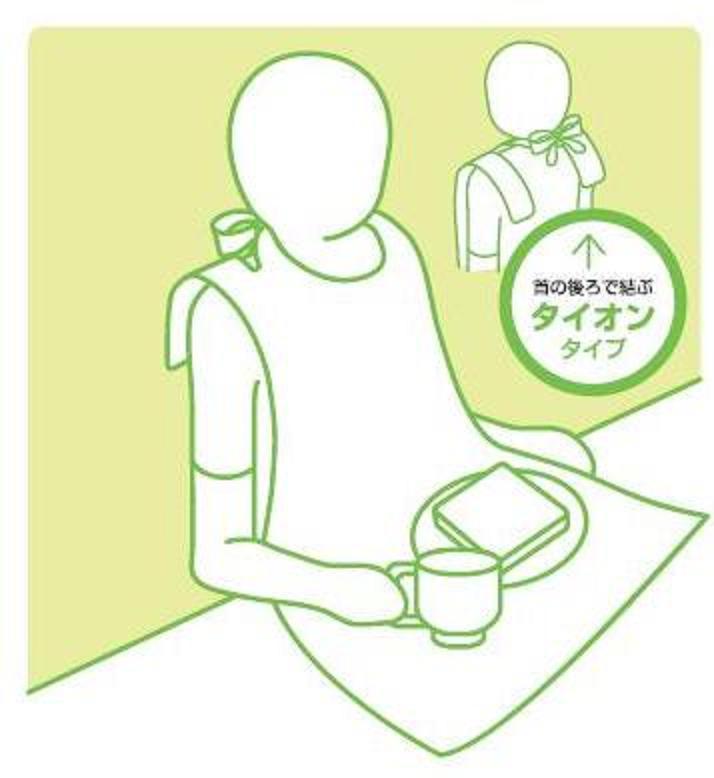 シンガー食事用ディスポエプロン 半透明グリーン 袋入 フリー 入数 1000枚(100枚×10袋)