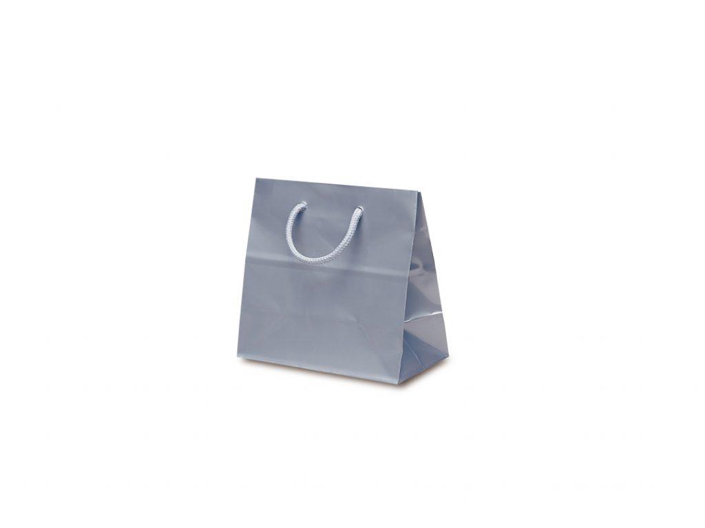 【手提袋】リトルバッグ シルバー 100枚