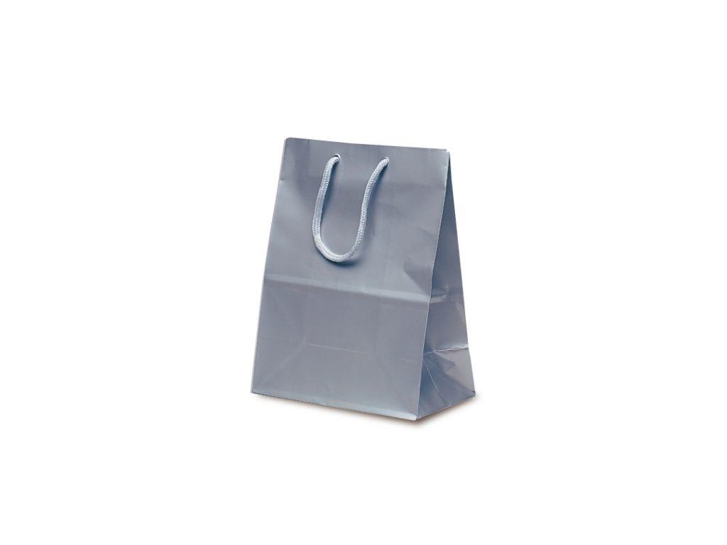 【手提袋】ミニバッグ シルバー 100枚