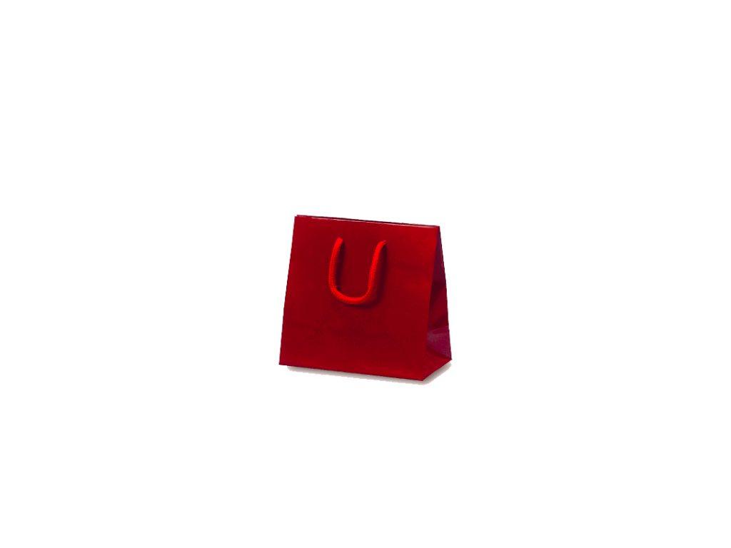 [宅送] 手提げ袋 手提紙袋 キュートバッグ 流行のアイテム 120×70×115mm ワイン 10枚