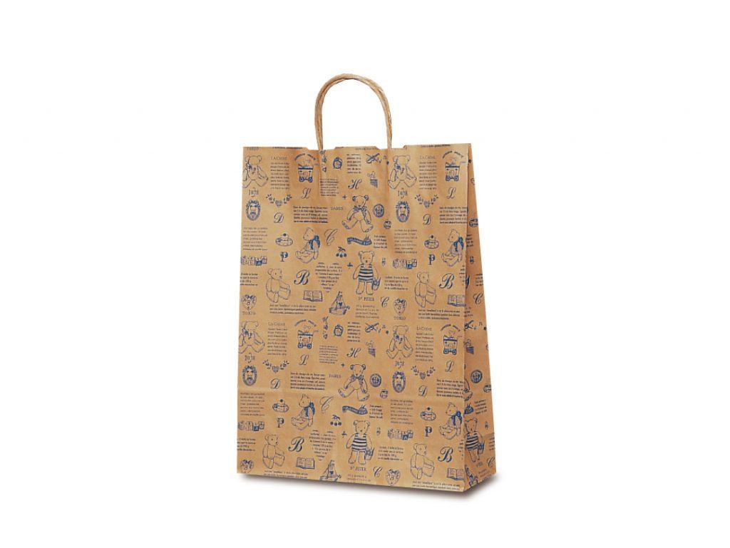 【手提袋】T―8 ベアコレクション(ブルー) 200枚