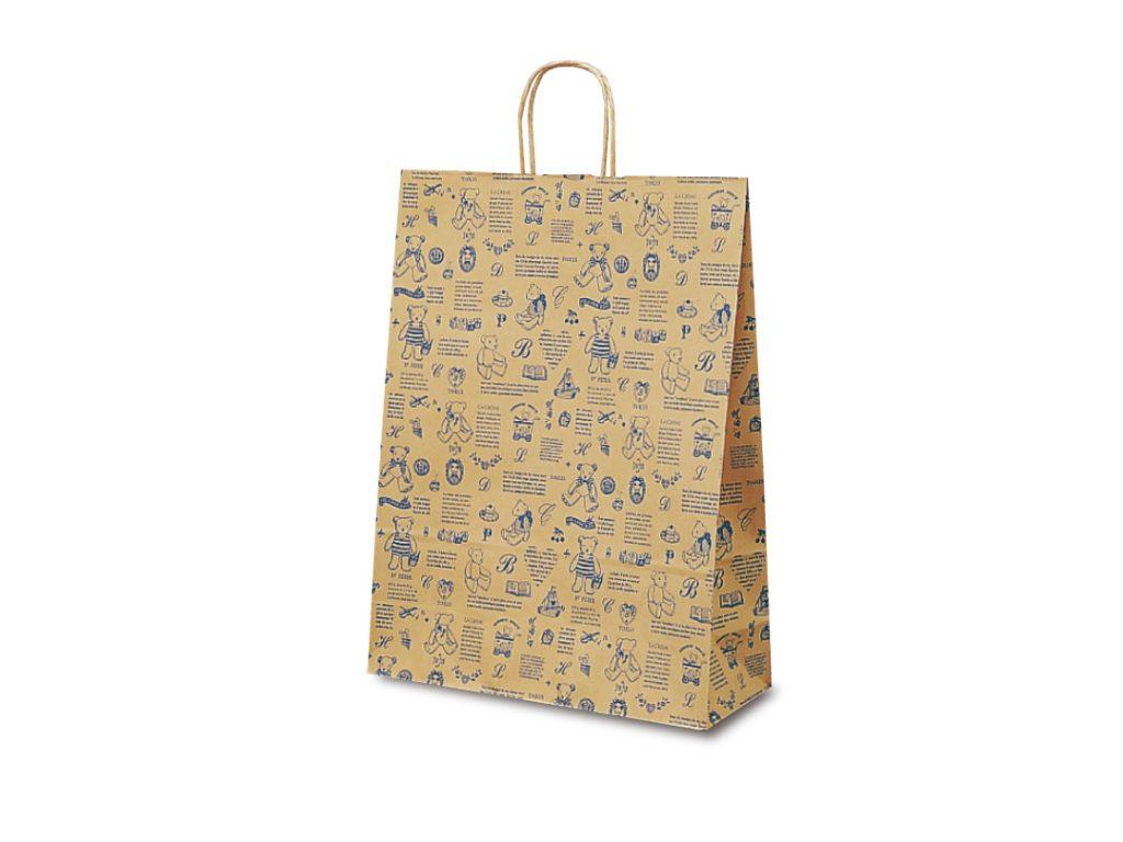 【手提袋】T―12 ベアコレクション(ブルー) 200枚