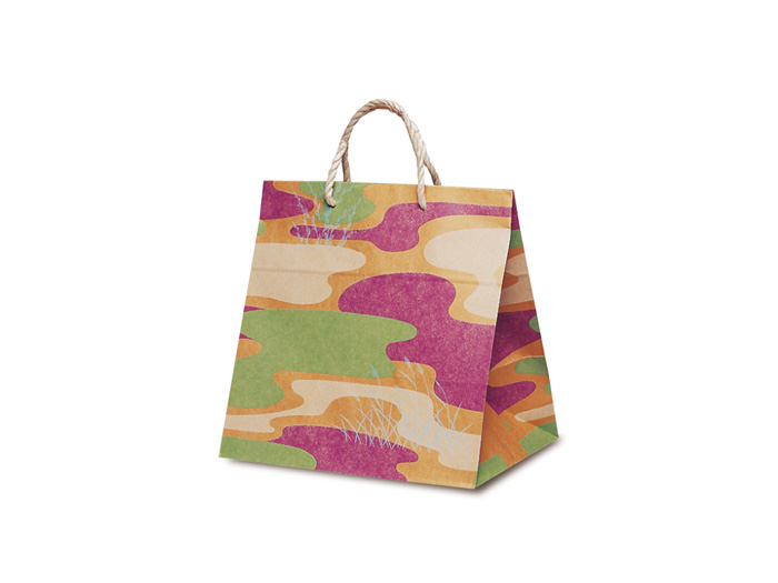 【手提紙袋】T−ワイド 利休 (50枚) 300×210×310mm:包装資材のお店 パッくん