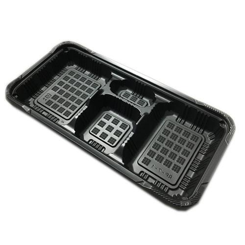 【弁当容器】RP-7-1H 黒・RP-7KFセット(500枚入)【個人宅配送不可】